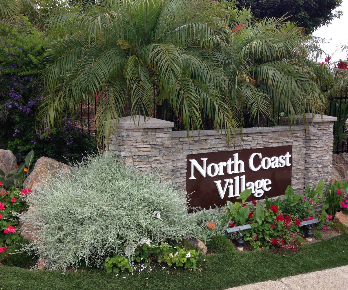 A-116 north coast village sign