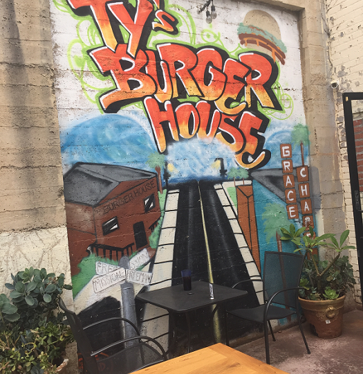 Ty's Burger House graffiti art out back