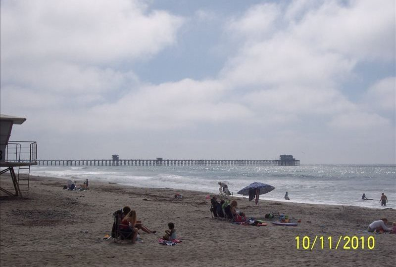 A-17 oceanside beach with oceanside pier in view